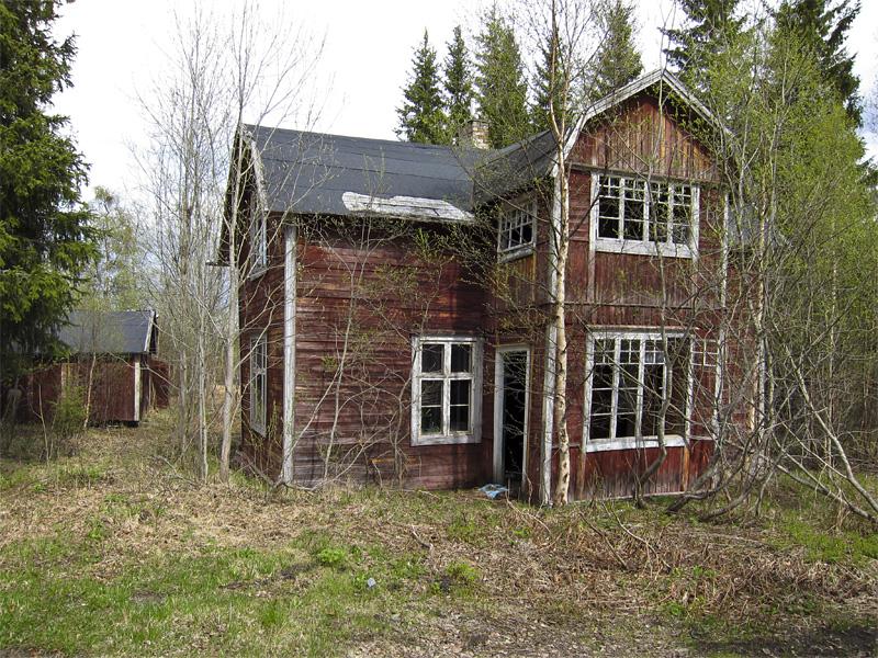 förfallet hus